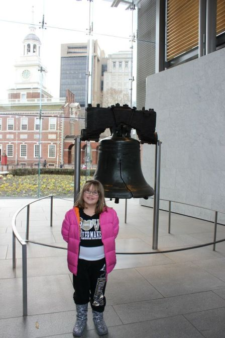 The best part of the Liberty Bell Museum is the view of Independence Hall in the background